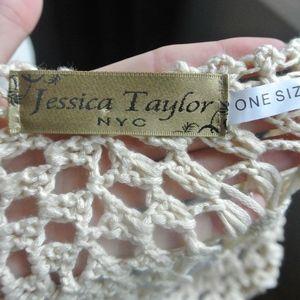 Jessica Taylor New York Swim - Blue Tie Dye Crochet Shawl